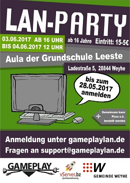 Flyer LAN-Party 2017 © Gemeinde Weyhe