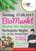 Plakat Bio-Barbecue